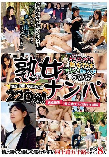 熟女ナンパ 関西・四国・中国地方篇220分!